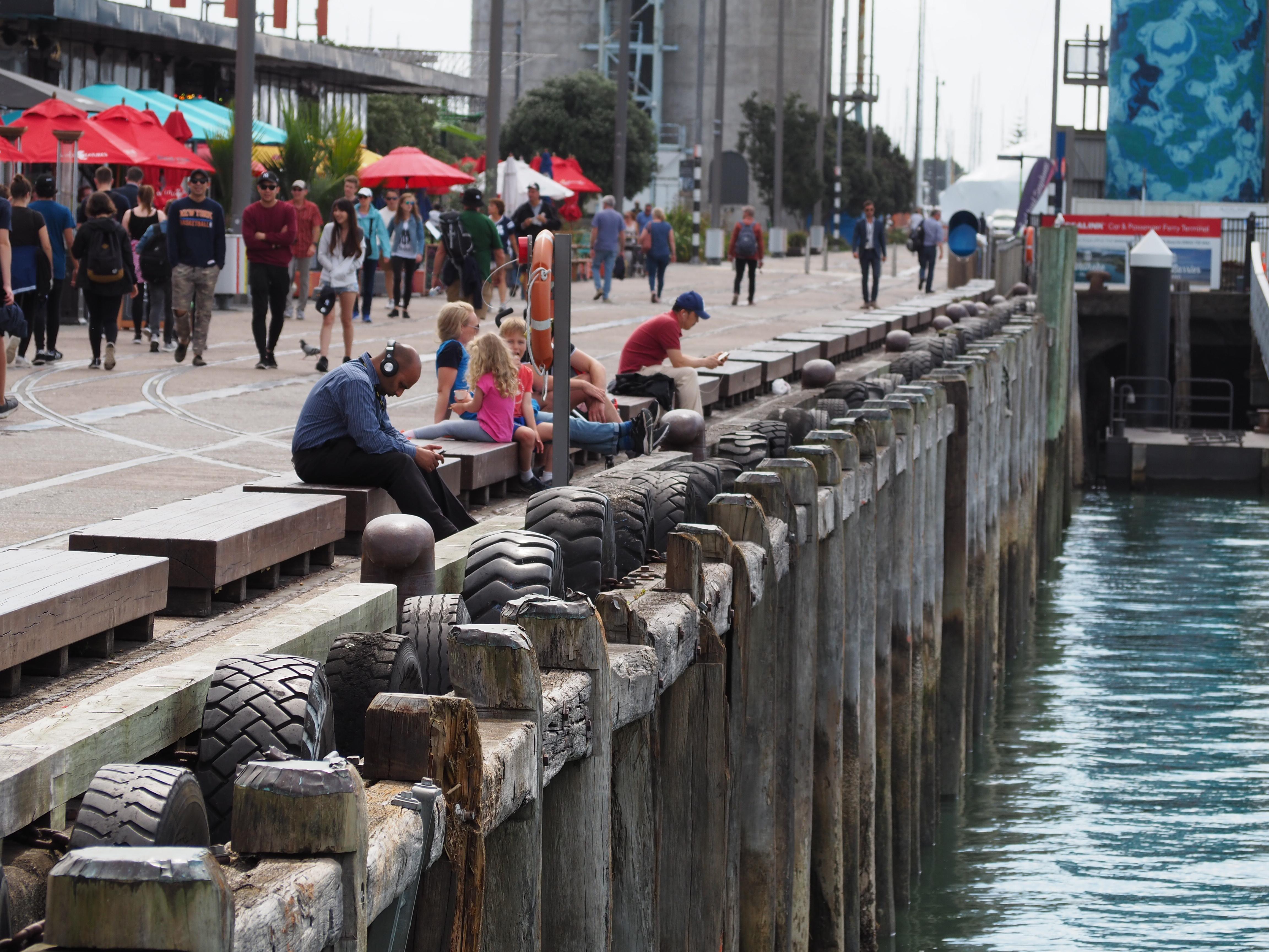 Das Wynyard Quarter am Hafen von Auckland
