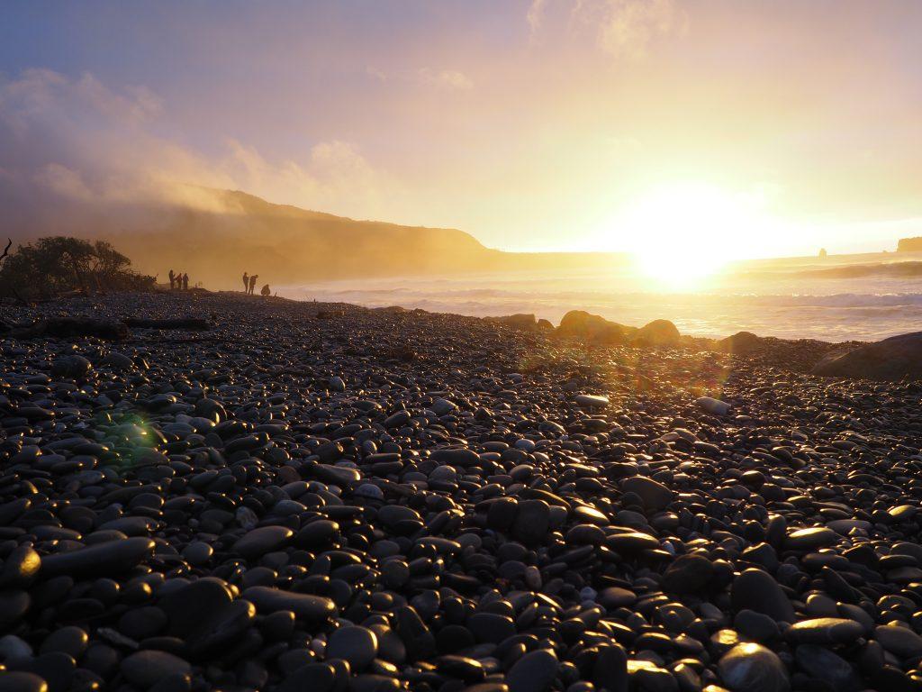 Sonnenuntergang am Rapahoe Bay.