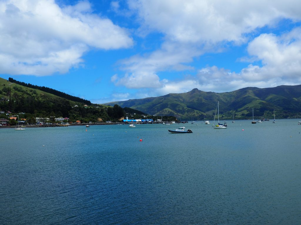 Der See in Akaroa.