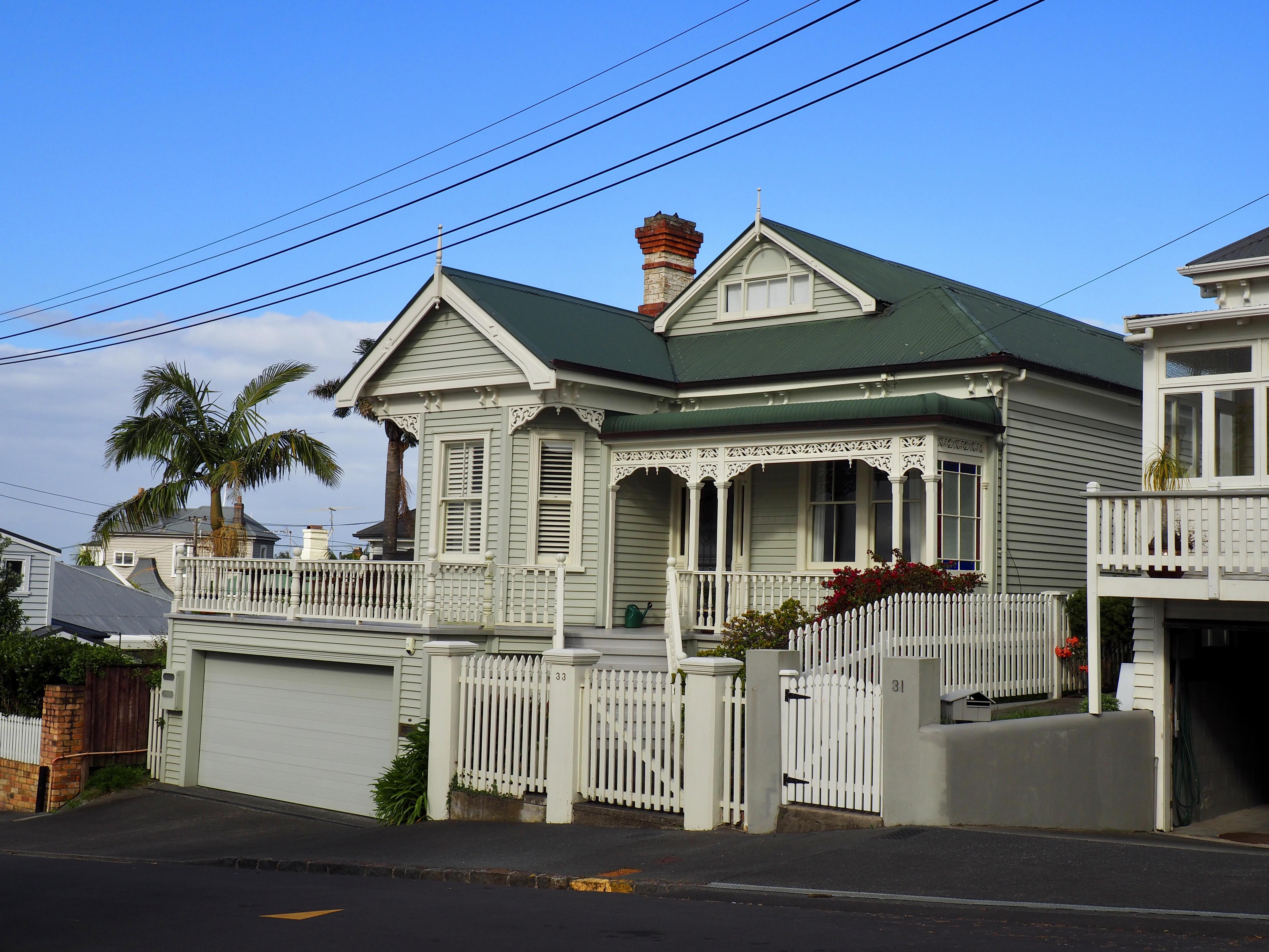 Ein Holzhaus in Aucklands Stadtteil Ponsonby