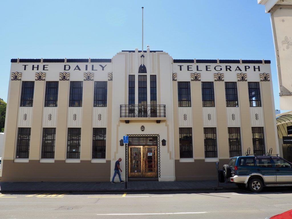 Das Gebäude des Daily Telegraph in Napier.