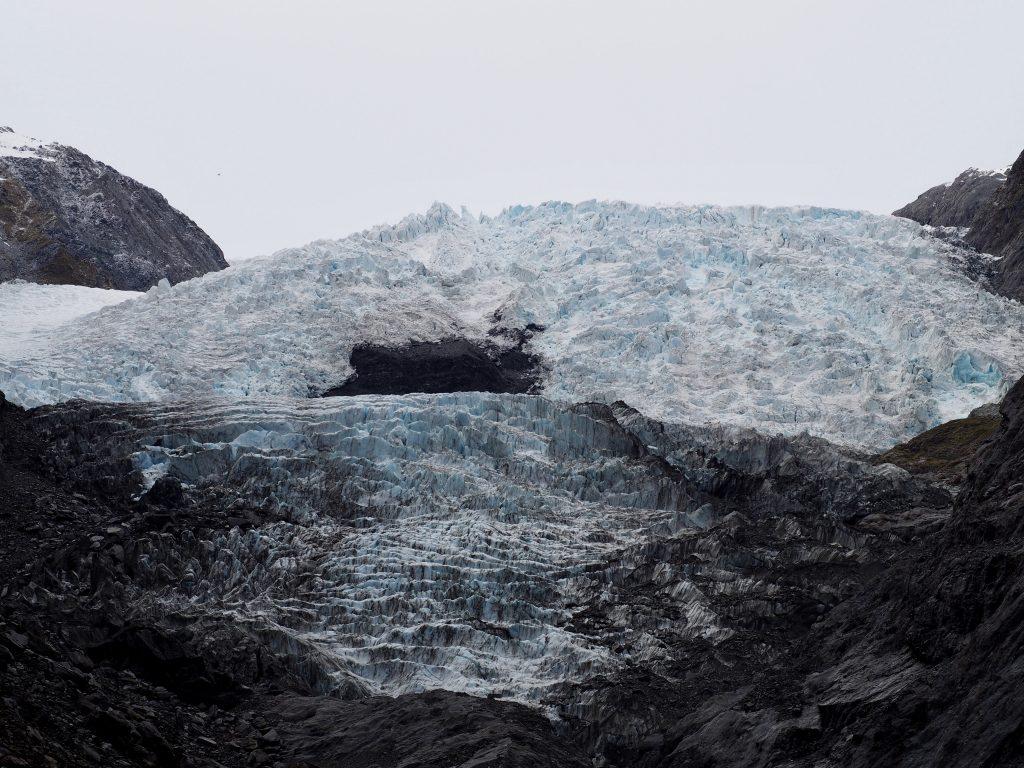 Gletscherzunge vom Franz-Josef-Gletscher.