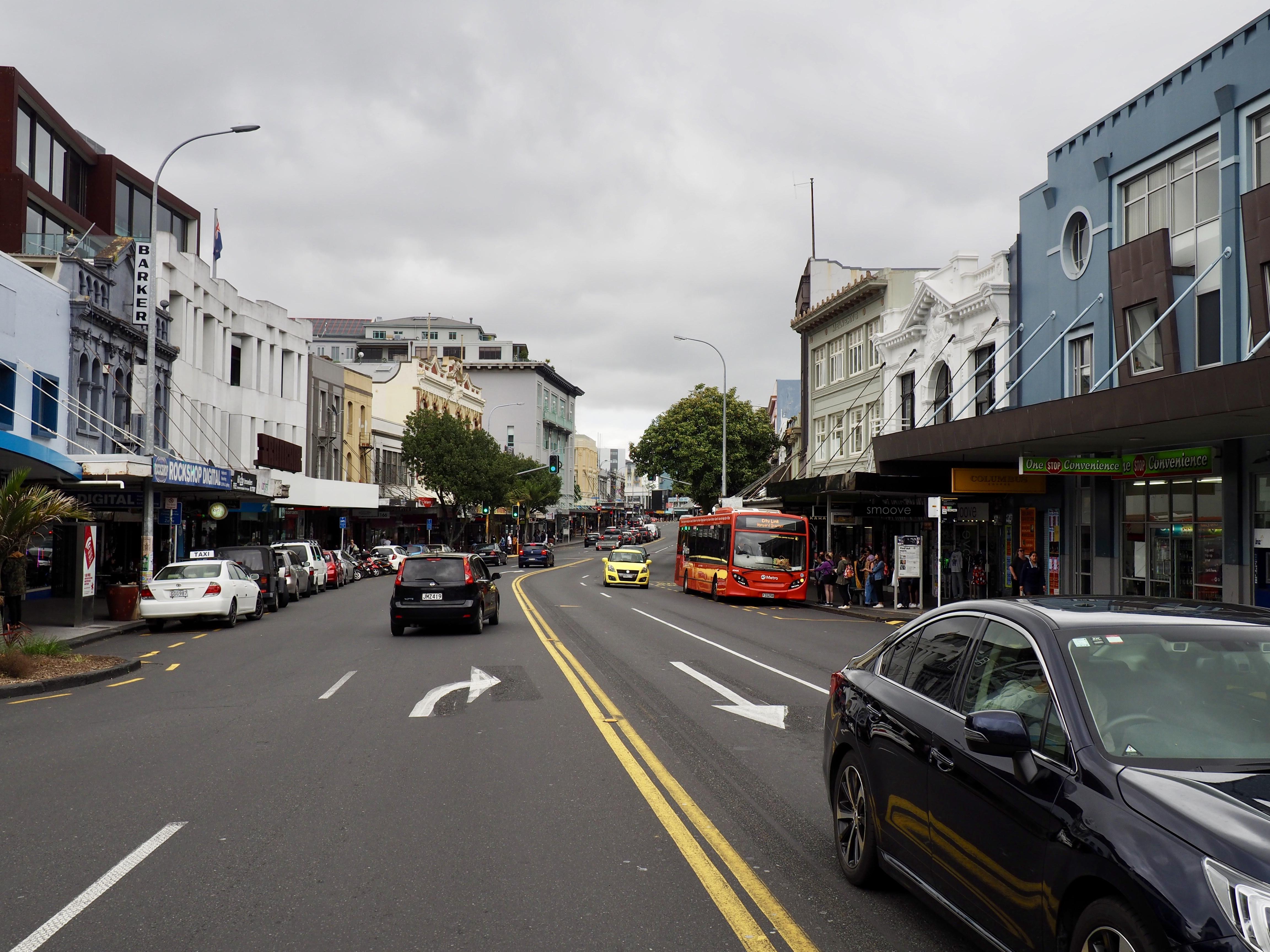 Blick auf die Karangahape Road in Auckland