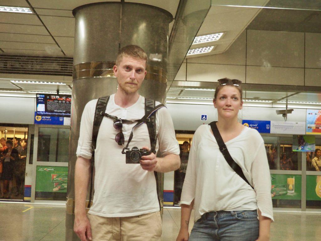 Anna und Phillip in der U-Bahn